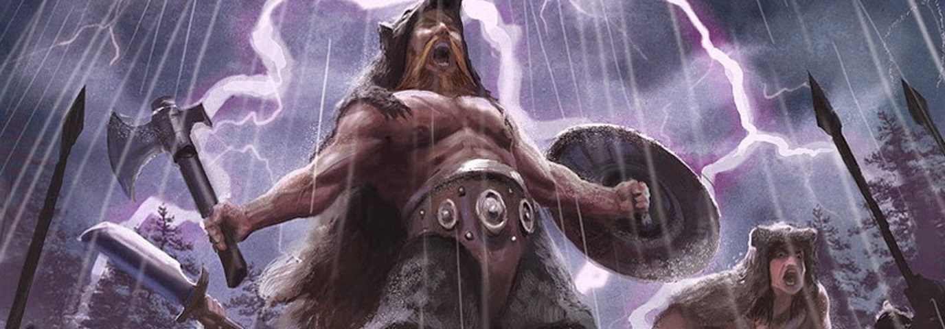 викинг, берсерк, рисунок, оружие, гроза